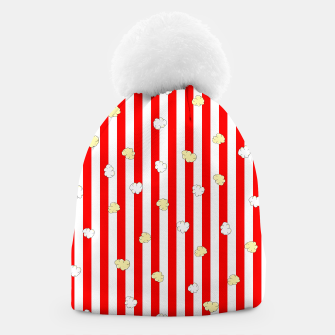 Thumbnail image of Popcorn Red Stripes Beanie, Live Heroes