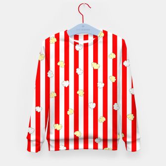 Thumbnail image of Popcorn Red Stripes Kid's sweater, Live Heroes