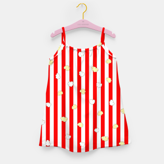 Thumbnail image of Popcorn Red Stripes Girl's dress, Live Heroes