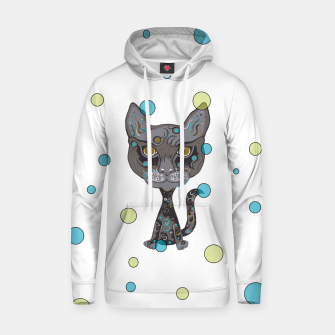 Thumbnail image of Hipster Kitty Hoodie, Live Heroes
