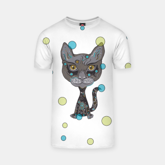 Thumbnail image of Hipster Kitty T-shirt, Live Heroes
