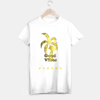 Miniatur Good Vibrations Summer Flamingo T-shirt regular, Live Heroes