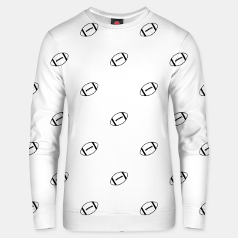 Miniatur American Football Ball Motif Pattern Unisex sweater, Live Heroes