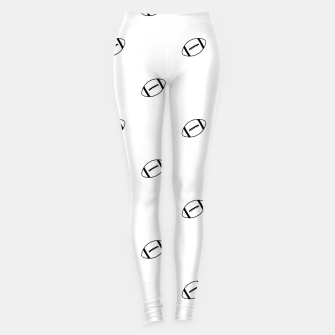 Miniatur American Football Ball Motif Pattern Leggings, Live Heroes
