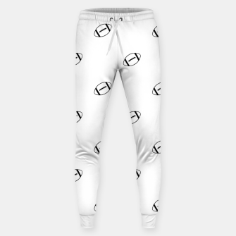Miniatur American Football Ball Motif Pattern Sweatpants, Live Heroes