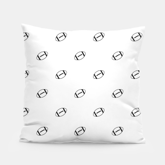Miniatur American Football Ball Motif Pattern Pillow, Live Heroes
