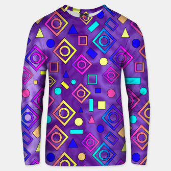 Thumbnail image of Geometric Shapes Purple Unisex sweater, Live Heroes