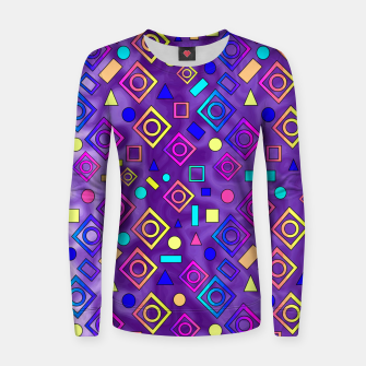 Imagen en miniatura de Geometric Shapes Purple Women sweater, Live Heroes