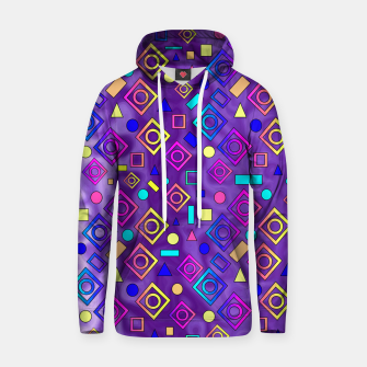 Thumbnail image of Geometric Shapes Purple Hoodie, Live Heroes