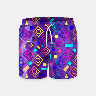 Imagen en miniatura de Geometric Shapes Purple Swim Shorts, Live Heroes