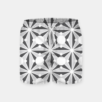 Thumbnail image of Abstract geometric pattern - gray and white. Swim Shorts, Live Heroes