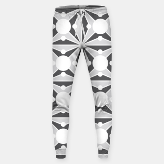 Thumbnail image of Abstract geometric pattern - gray and white. Sweatpants, Live Heroes