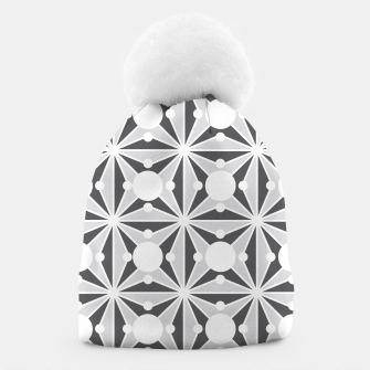 Thumbnail image of Abstract geometric pattern - gray and white. Beanie, Live Heroes