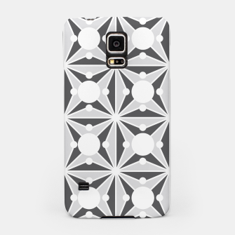 Thumbnail image of Abstract geometric pattern - gray and white. Samsung Case, Live Heroes