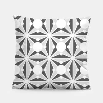 Thumbnail image of Abstract geometric pattern - gray and white. Pillow, Live Heroes