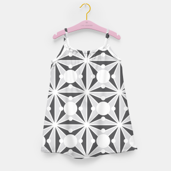 Thumbnail image of Abstract geometric pattern - gray and white. Girl's dress, Live Heroes
