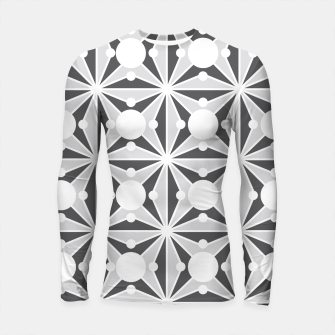 Thumbnail image of Abstract geometric pattern - gray and white. Longsleeve rashguard , Live Heroes