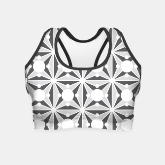 Thumbnail image of Abstract geometric pattern - gray and white. Crop Top, Live Heroes