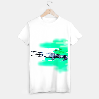 crocodile blues Yulia A Korneva home made T-shirt regular thumbnail image