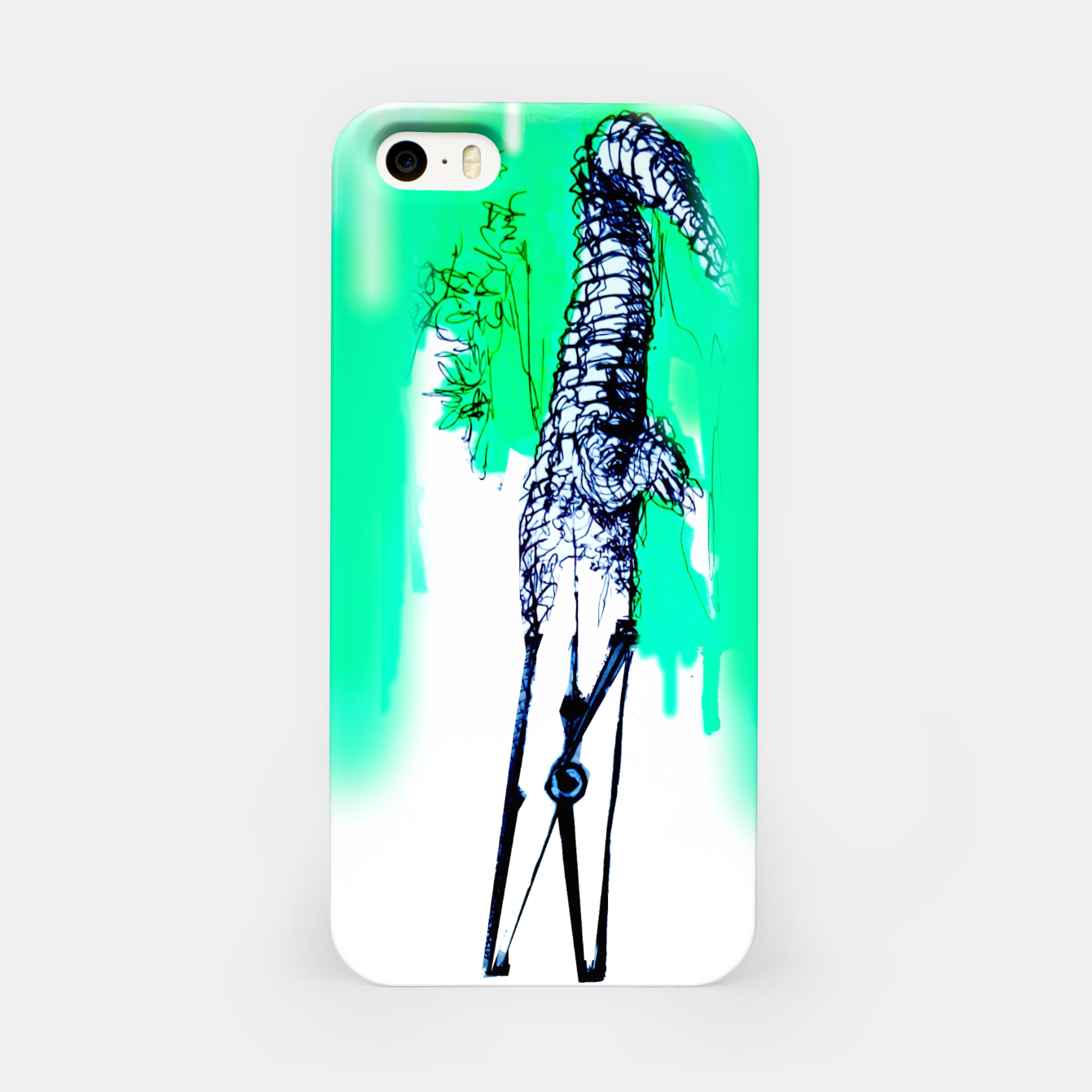 Image of crocodile blues Yulia A Korneva home made iPhone Case - Live Heroes