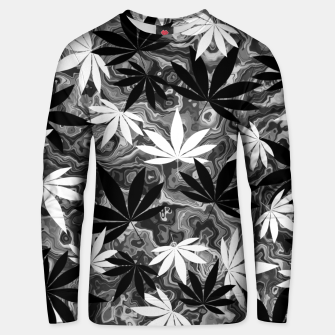 Miniatur Black And White Weed Unisex sweater, Live Heroes