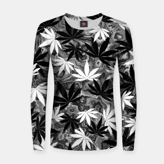 Miniatur Black And White Weed Women sweater, Live Heroes