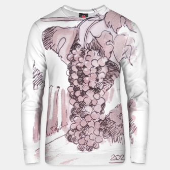 Thumbnail image of Bonarda grapes wine watercolor Yulia A Korneva Unisex sweater, Live Heroes