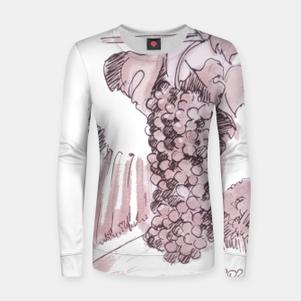 Thumbnail image of Bonarda grapes wine watercolor Yulia A Korneva Women sweater, Live Heroes
