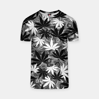 Miniatur Black And White Weed T-shirt, Live Heroes