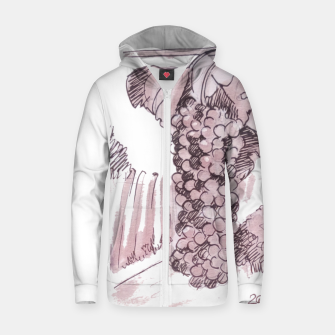 Thumbnail image of Bonarda grapes wine watercolor Yulia A Korneva Zip up hoodie, Live Heroes