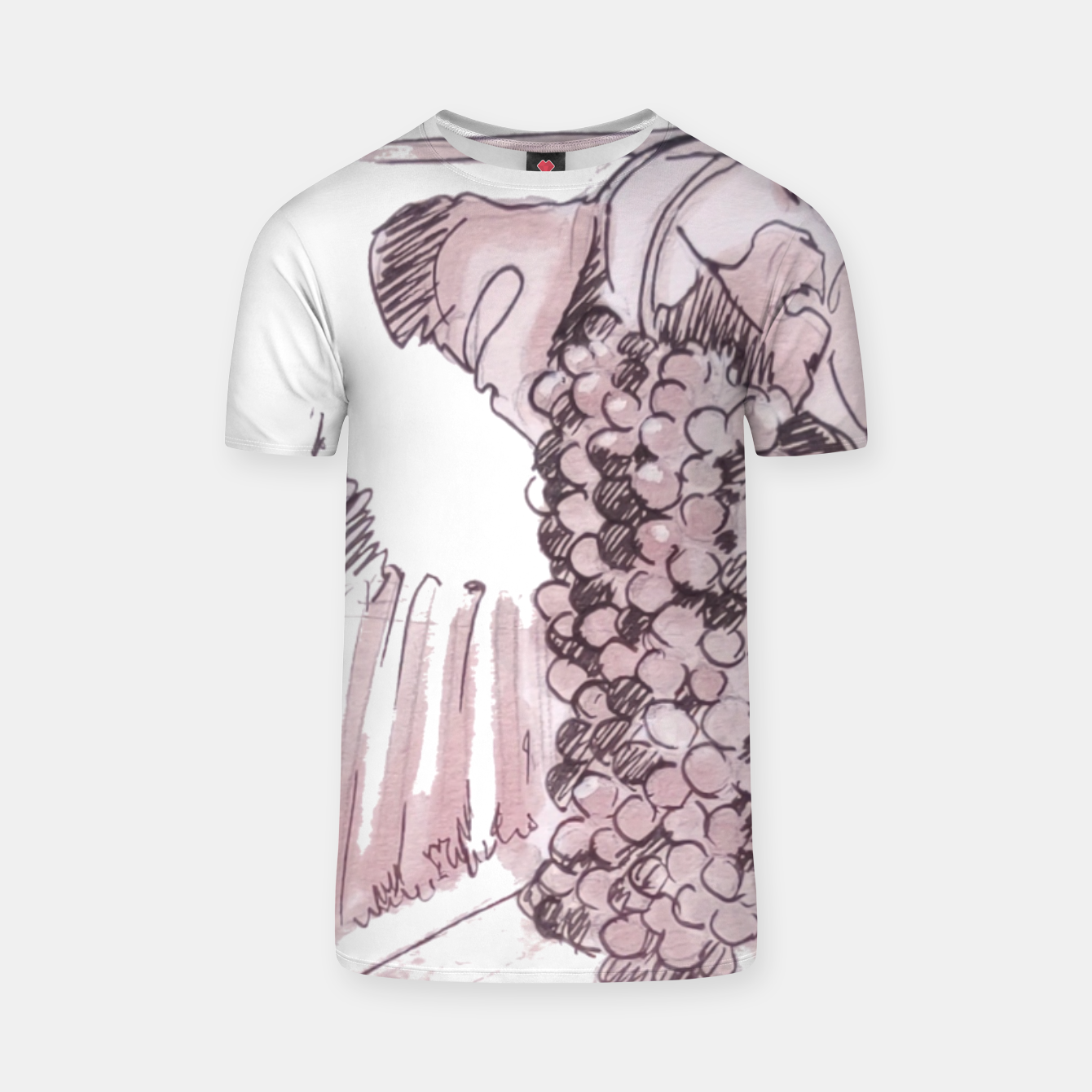 Image of Bonarda grapes wine watercolor Yulia A Korneva T-shirt - Live Heroes
