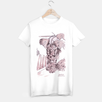 Bonarda grapes wine watercolor Yulia A Korneva T-shirt regular thumbnail image