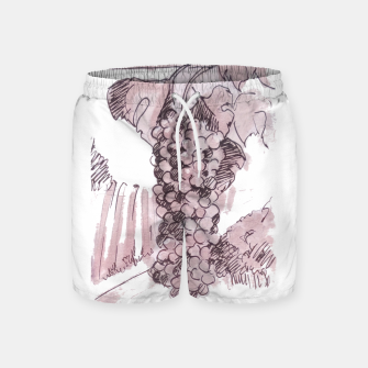 Thumbnail image of Bonarda grapes wine watercolor Yulia A Korneva Swim Shorts, Live Heroes