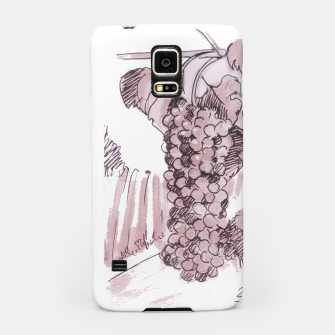 Miniaturka Bonarda grapes wine watercolor by yulia a korneva Samsung Case, Live Heroes