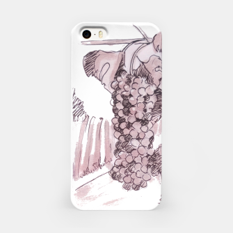 Thumbnail image of Bonarda grapes wine watercolor Yulia A Korneva iPhone Case, Live Heroes