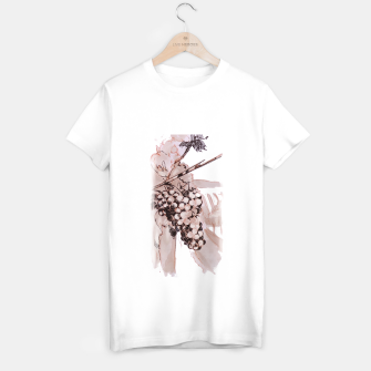 Miniaturka Sangiovese grapes and landscape wine watercolor Yulia A Korneva T-shirt regular, Live Heroes