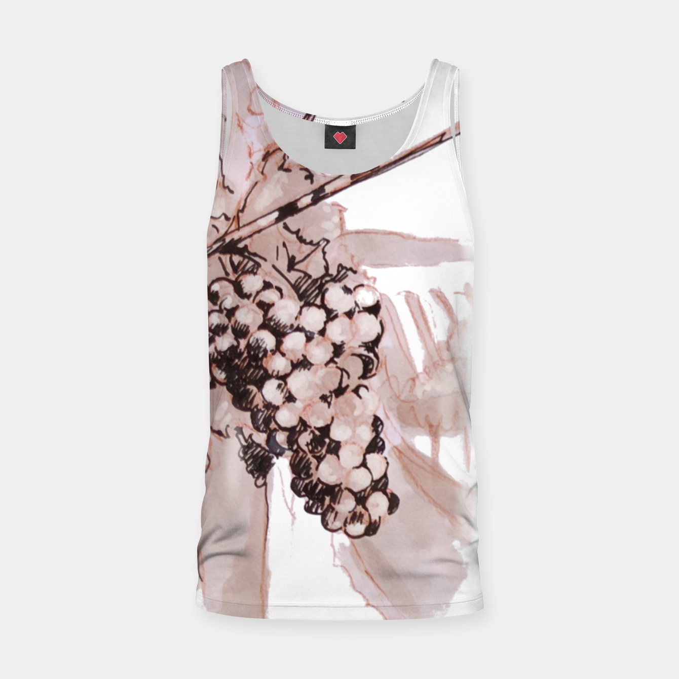 Image of Sangiovese landscape and grapes wine watercolor Yulia A Korneva Tank Top - Live Heroes