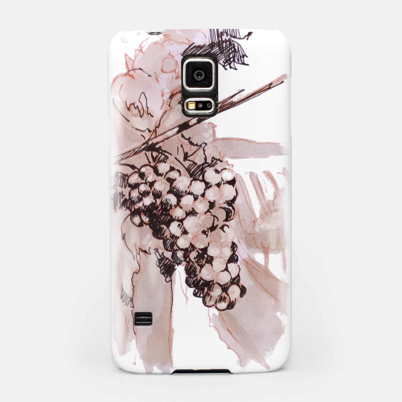 Image of Sangiovese landscape and grapes wine watercolor Yulia A Korneva Samsung Case - Live Heroes