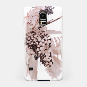 Miniaturka Sangiovese grapes and landscape wine watercolor Yulia A Korneva Samsung Case, Live Heroes