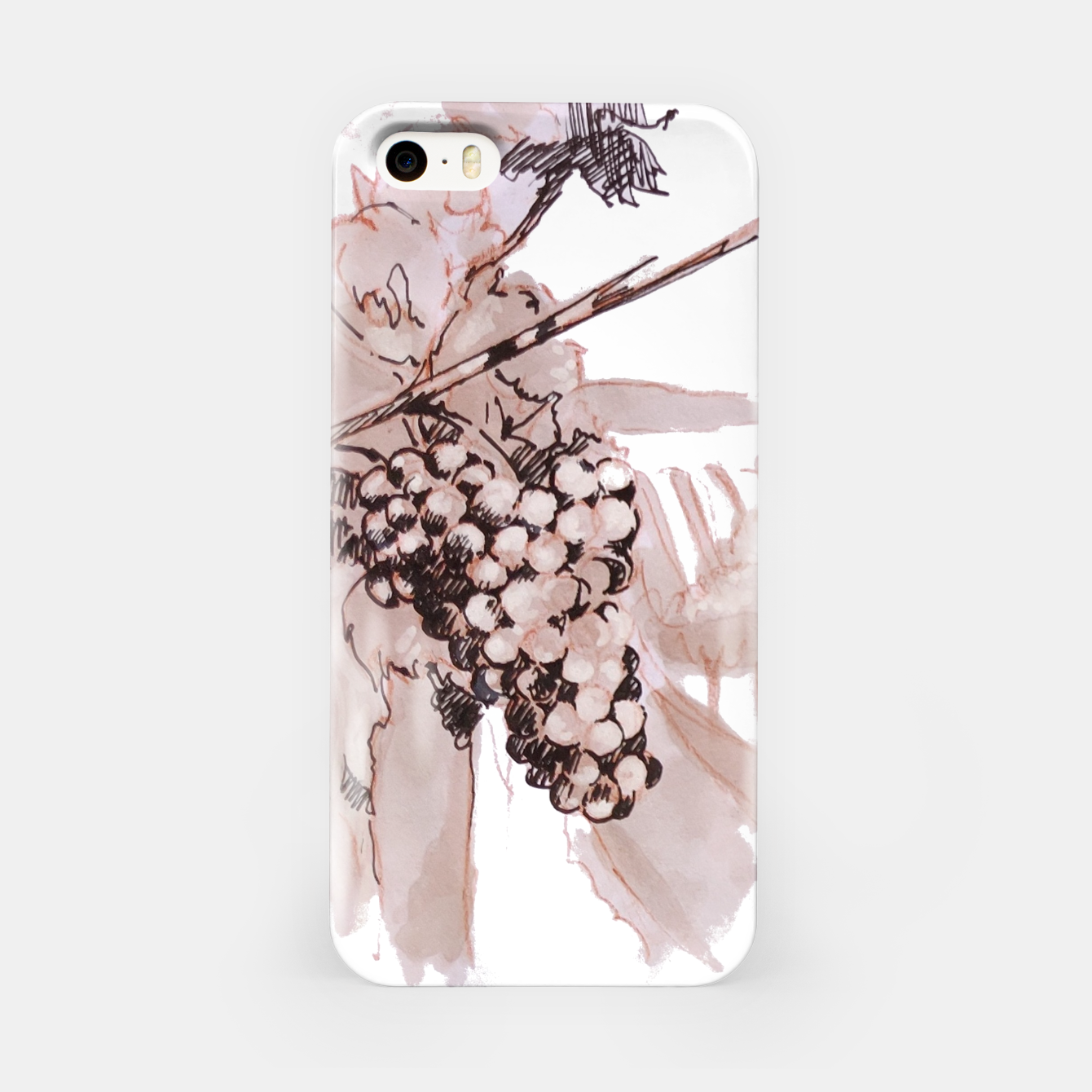 Image of Sangiovese landscape and grapes wine watercolor Yulia A Korneva iPhone Case - Live Heroes
