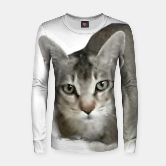 Thumbnail image of THAT FACE Cute Kitten Abyssinian Women sweater, Live Heroes