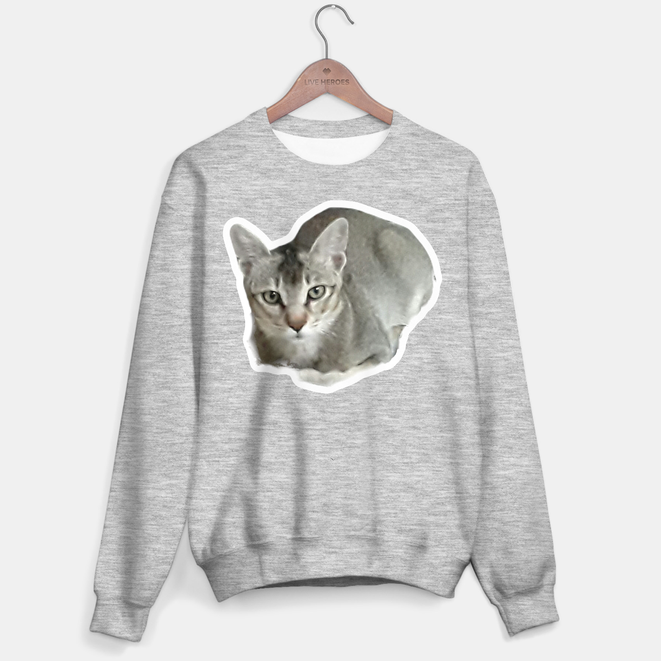 Image of THAT FACE Cute Kitten Abyssinian Sweater regular - Live Heroes