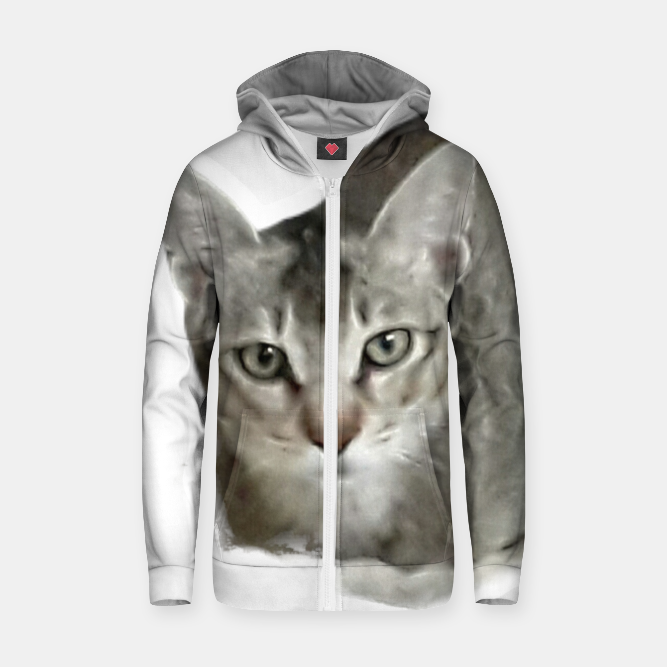 Image of THAT FACE Cute Kitten Abyssinian Zip up hoodie - Live Heroes