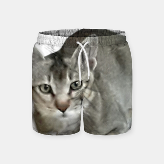 Thumbnail image of THAT FACE Cute Kitten Abyssinian Swim Shorts, Live Heroes