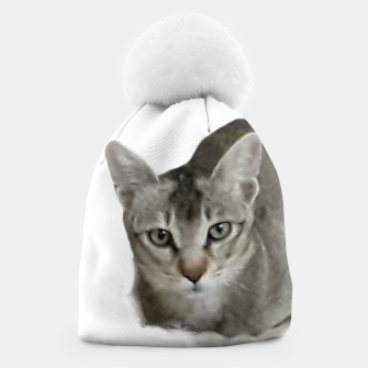 Thumbnail image of THAT FACE Cute Kitten Abyssinian Beanie, Live Heroes