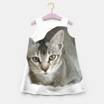 Thumbnail image of THAT FACE Cute Kitten Abyssinian Girl's summer dress, Live Heroes