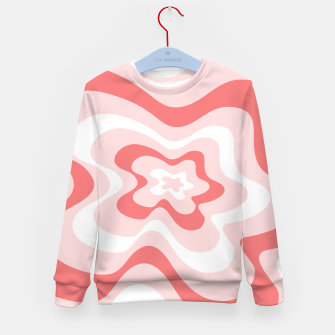 Thumbnail image of Abstract pattern - pink. Kid's sweater, Live Heroes