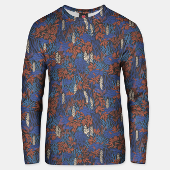Thumbnail image of Cobalt tropical lush bright Unisex sweater, Live Heroes