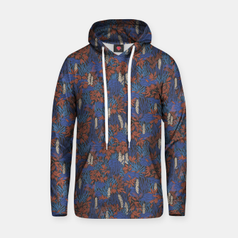 Thumbnail image of Cobalt tropical lush bright Hoodie, Live Heroes
