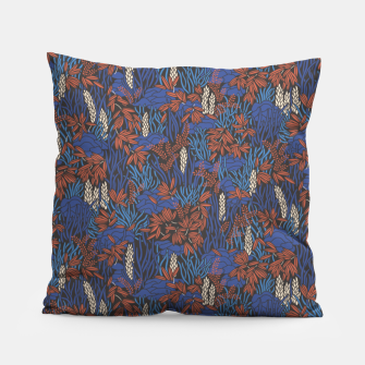 Thumbnail image of Cobalt tropical lush bright Pillow, Live Heroes